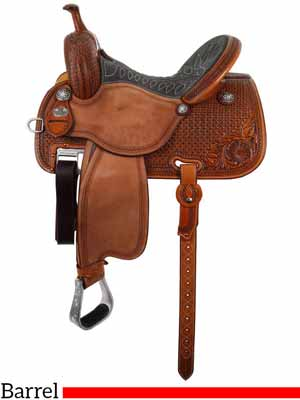 The Sherry Cervi Crown C 97-C1 Barrel saddle by Martin Saddlery