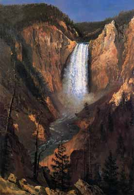 Yellowstone Falls by painter Albert Bierstadt