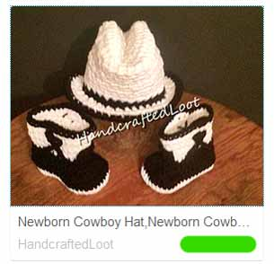 Cowboy hat and boots for babies