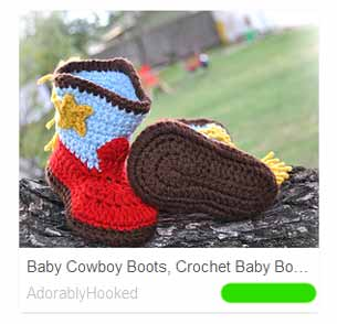 Colorful baby cowboy boots