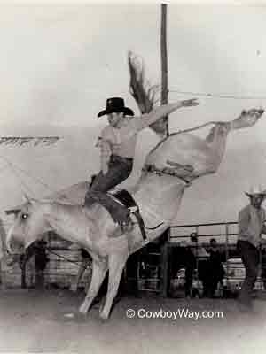 A Carpenter Rodeo Company bareback bronc