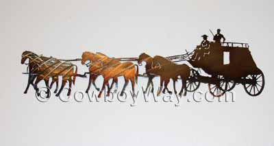 Stagecoach metal wall art