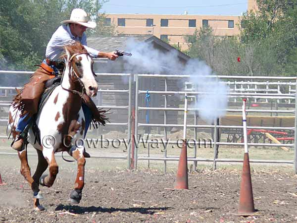 Cowboy mounted shooting