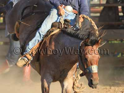 A cowboy uses his rope as a night latch