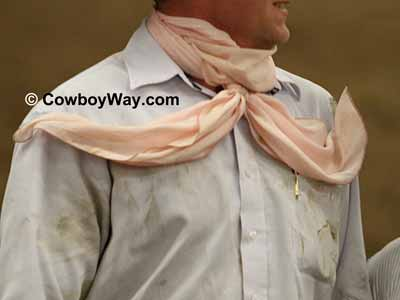 Cowboy wild rag with long tails