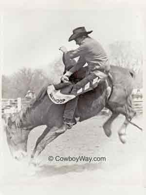 Carl Waymire and the bronc Ed Hickey