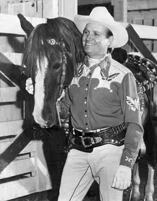 A photo of Gene Autry and Champion, his horse