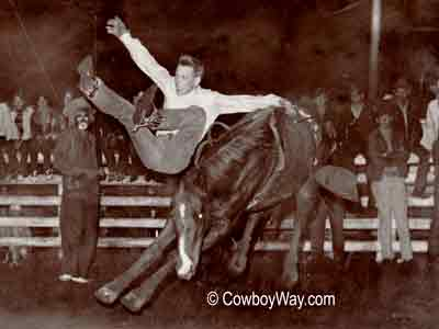 The bronc Haysville bucking off a rider