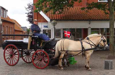 A horse carriage, not a horse cart