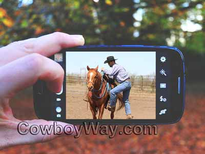 Filming a horse video in landscape mode