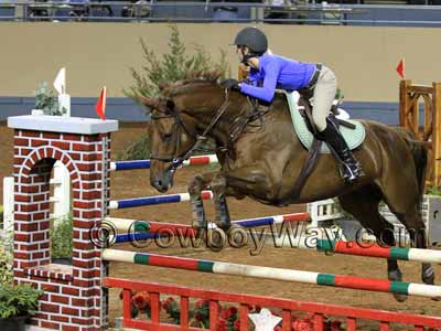 A faux red brick horse jump standard