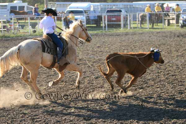 The doctoring event in a junior ranch rodeo