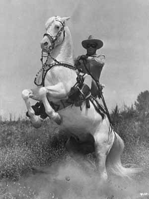 The Lone Ranger and his horse, Silver