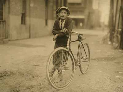 A messenger boy, also called a courier