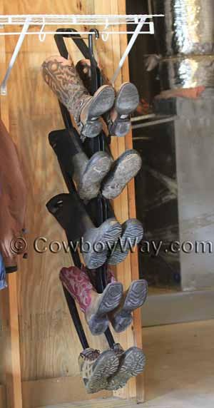 The Boot Butler holding 5 pairs of boots