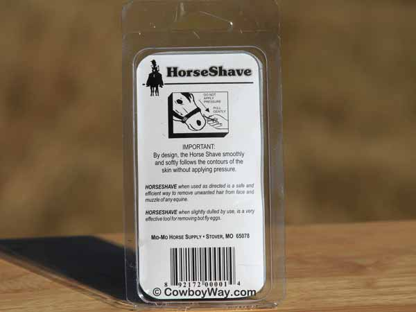 Horse Shave horse - back of the package