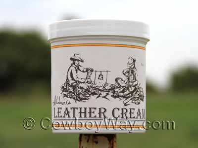 Skidmore's Leather Cream with the regular label