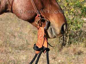 Slobber straps on reins