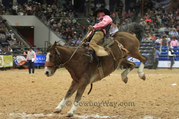 WRCA Ranch Bronc Riding 2014 - Bronc Rider Wes Housler