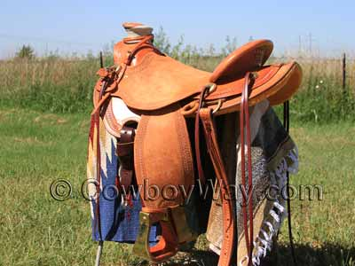 A custom made Wade saddle