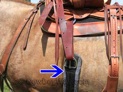 Horse Western 27 Strand Double Weave Two-Tone Mohair Roper Cinch 97RT05