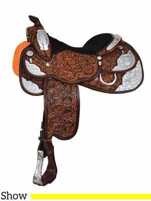 An expensive Western show saddle from Circle Y.