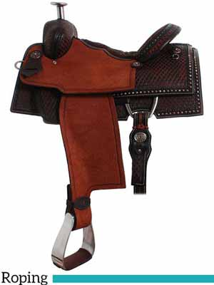 The Hi-Tech Roper SDR212 roping saddle made by Double J Saddlery.