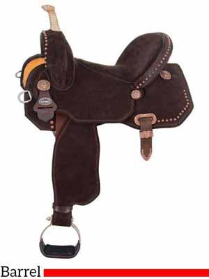 The Lightspeed lightweight barrel saddle by Circle Y
