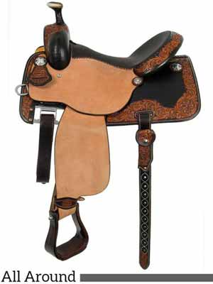 A high-end Western saddle from Martin Saddlery.