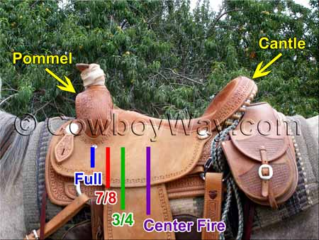 Information about Western saddle rigging positions