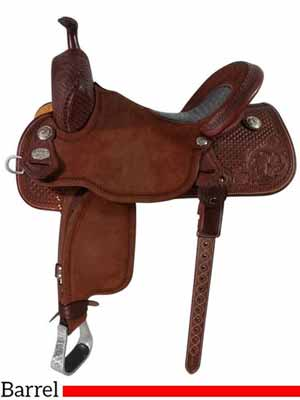 A Sherry Cervi Stingray barrel saddle of high quality and high price tag