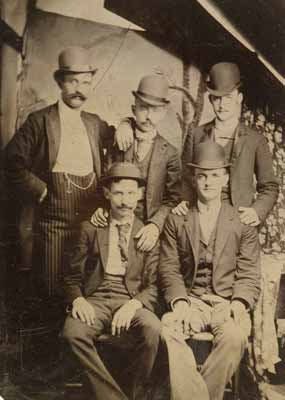Members of the Wild Bunch photographed on tintype