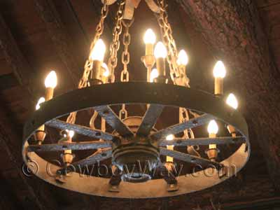 Wagon Wheel Chandeliers For